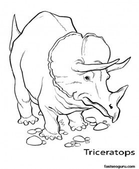Printable Dinosaur Triceratops Coloring Pages Printable Coloring