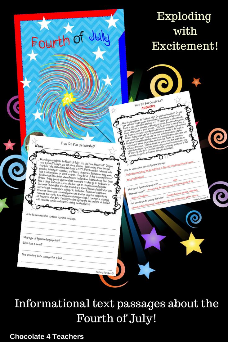 Fourth Of July Nonfiction Passages And Printables Nonfiction Passages Teachers Reading Intervention [ 1102 x 735 Pixel ]
