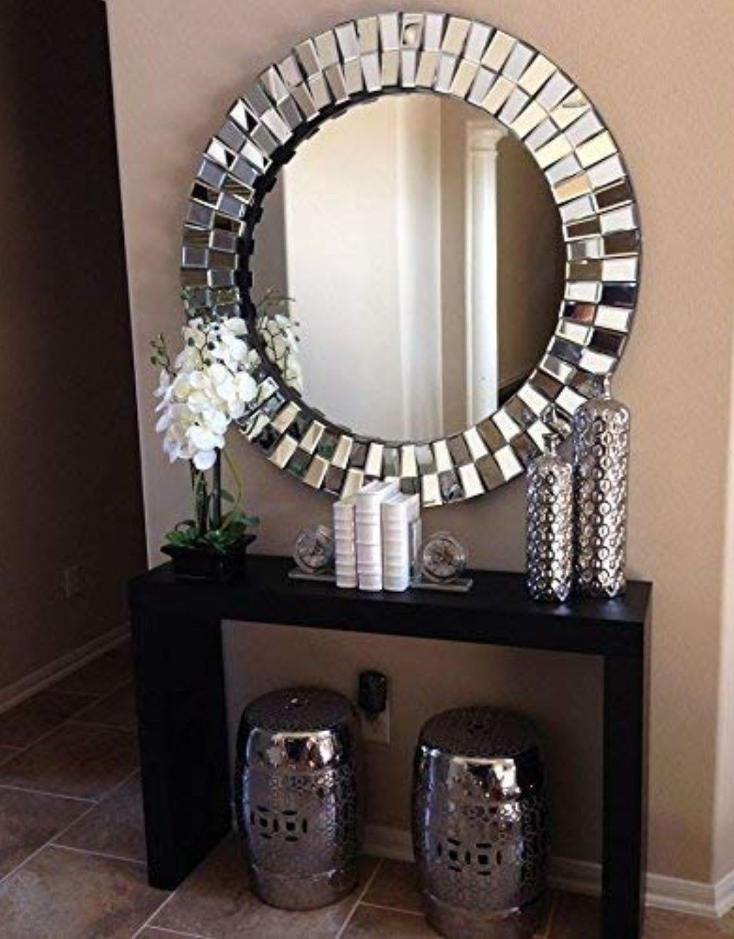 venetian design globus wall mirror entryway table decor on small entryway console table decor ideas make a statement with your home s entryway id=23216