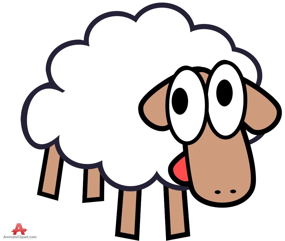 Cute white sheep clipart free clipart design download