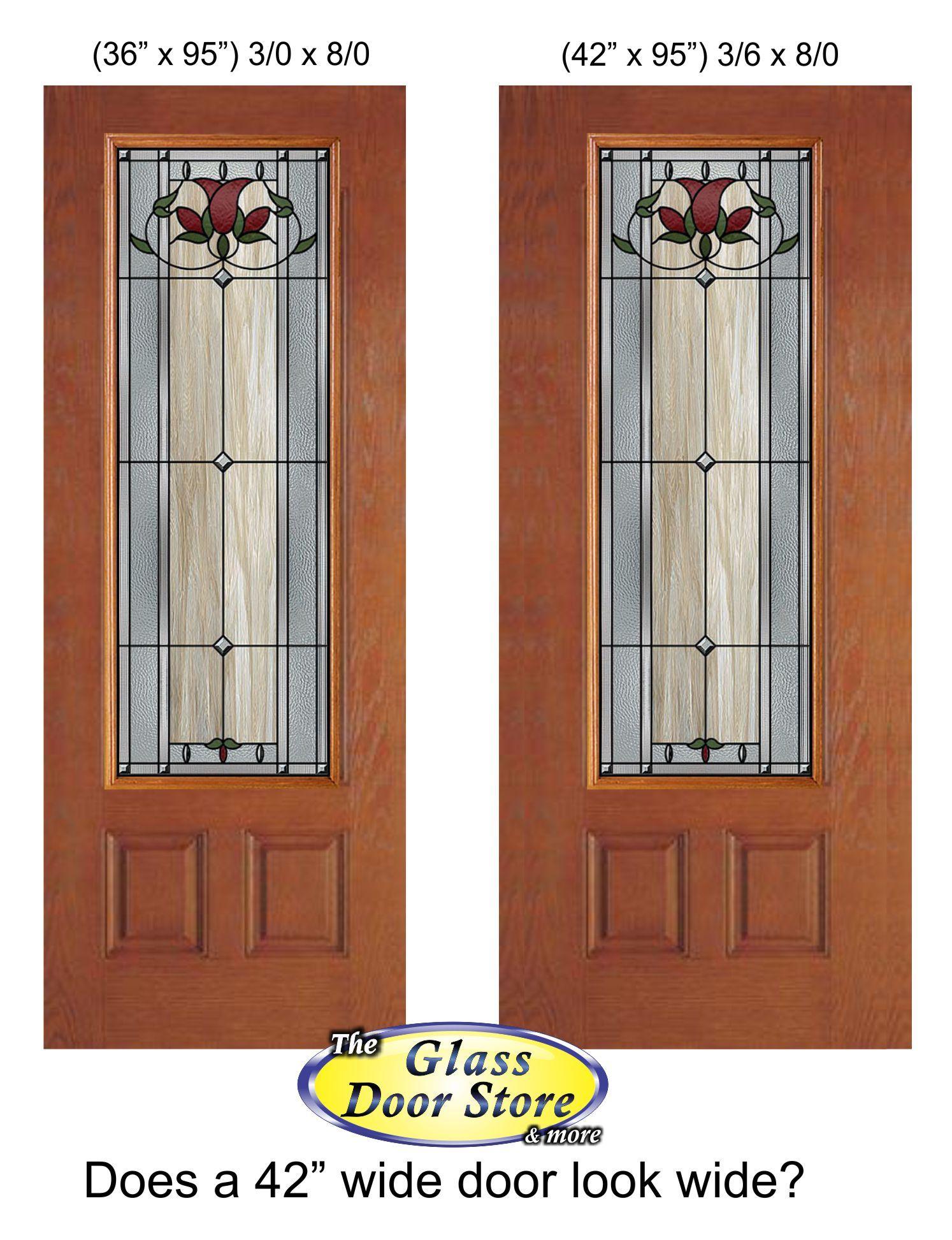 42 Plastpro Door With A Standard Glass Door Insert Compare This To The 36 Door On The Left Www Glas Glass Front Entry Doors Glass Doors Interior Glass Door