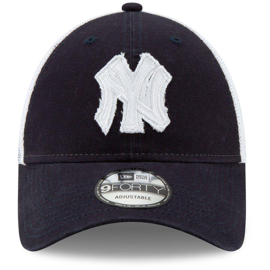 19039b7d New York Yankees New Era Team Truckered 9FORTY Adjustable Hat - Navy/White