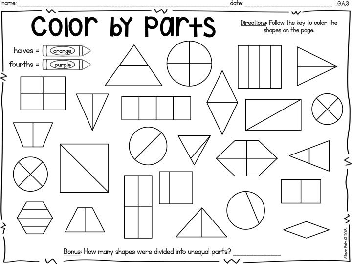 Understand Breaking Shapes Into Parts {Common Core Math