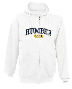 Stay warm with a zip up Humber sweatshirt. #Humbercollege