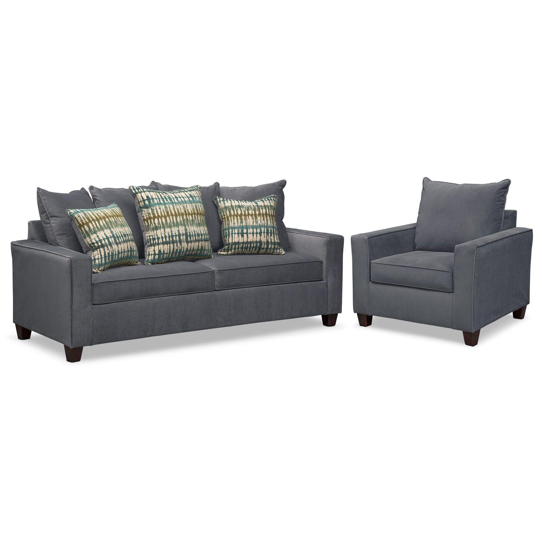 Bryden Sofa and Chair Set - Slate | Slate, Furniture mattress and ...