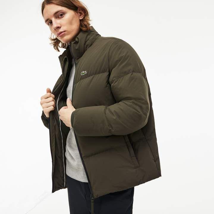 8a1dd8b3c5b Lacoste Men s Detachable Hood Quilted Water-Resistant Taffeta Jacket