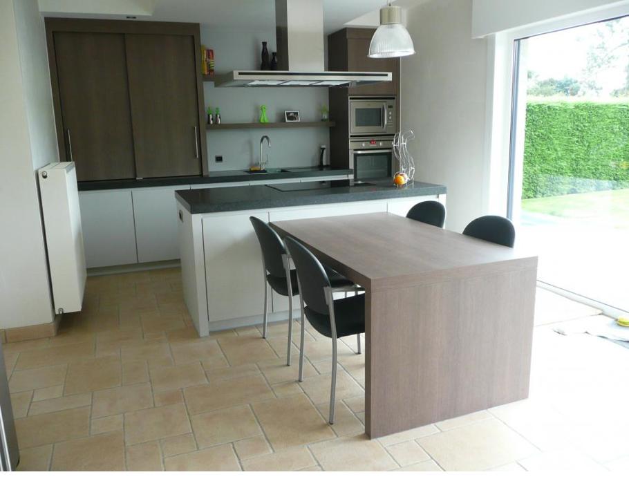 Eiland met tafel keuken pinterest future house future and house - Tafel centraal eiland ...