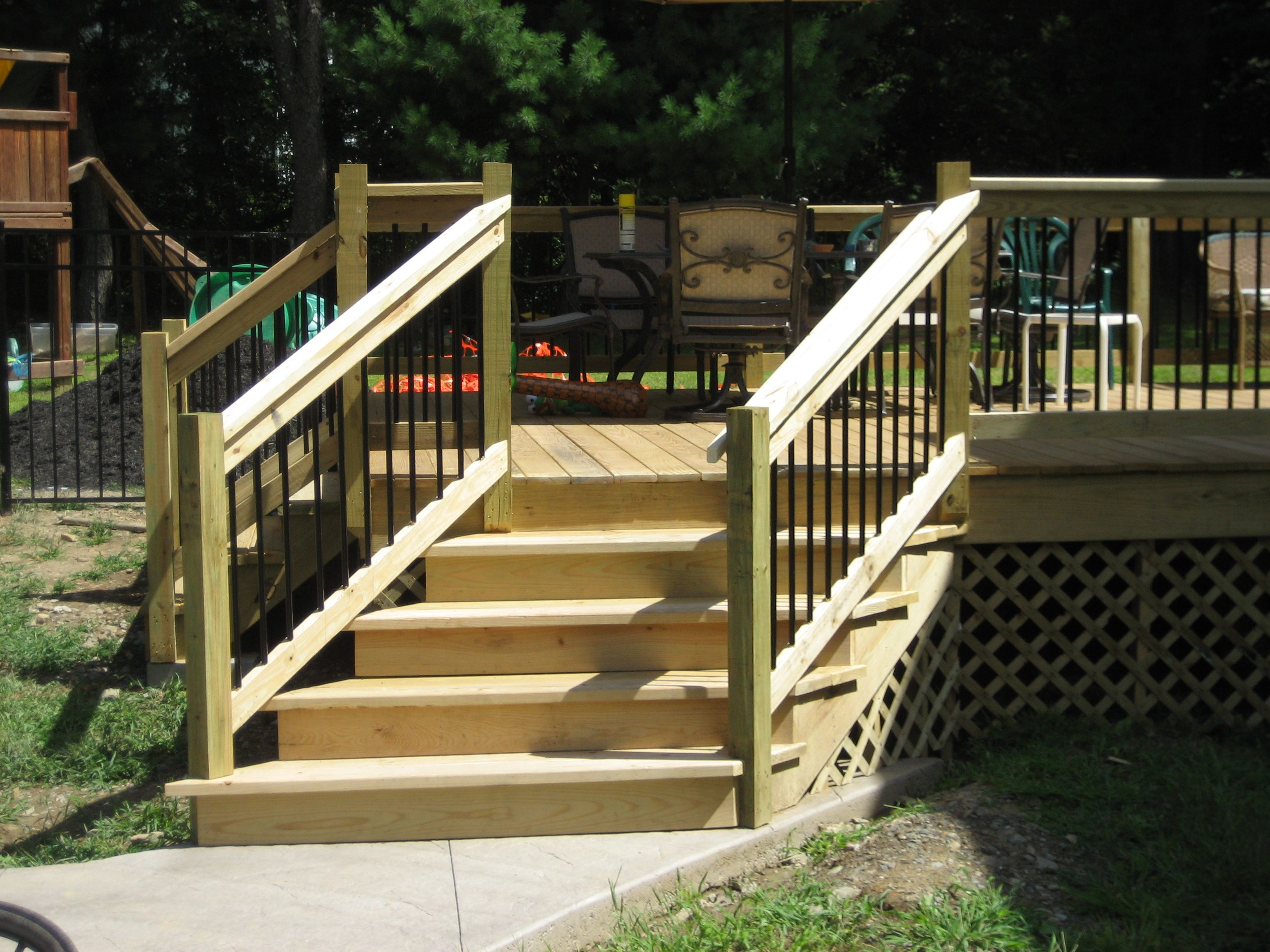 Best Angled Deck Stairs Red Hook Ny Exterior Renovations 640 x 480