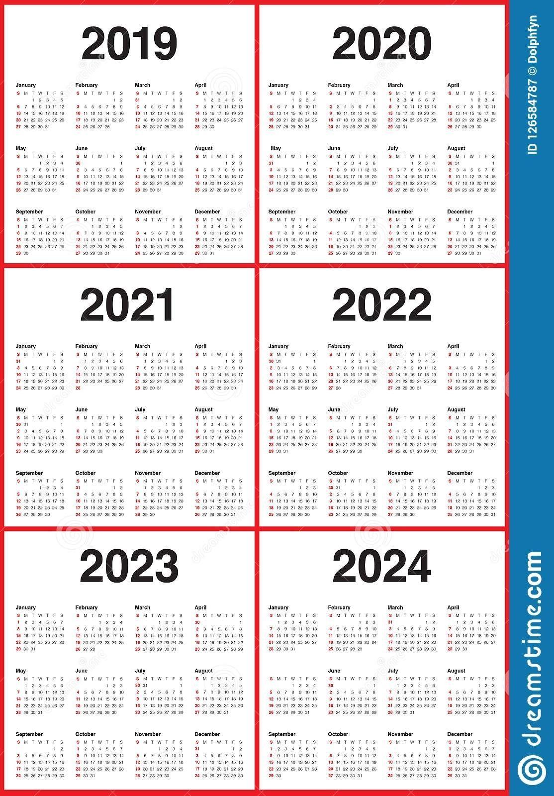 3 Year Calendar 2021 To 2023 Calendar Template Calendar Printables Printable Calendar Template