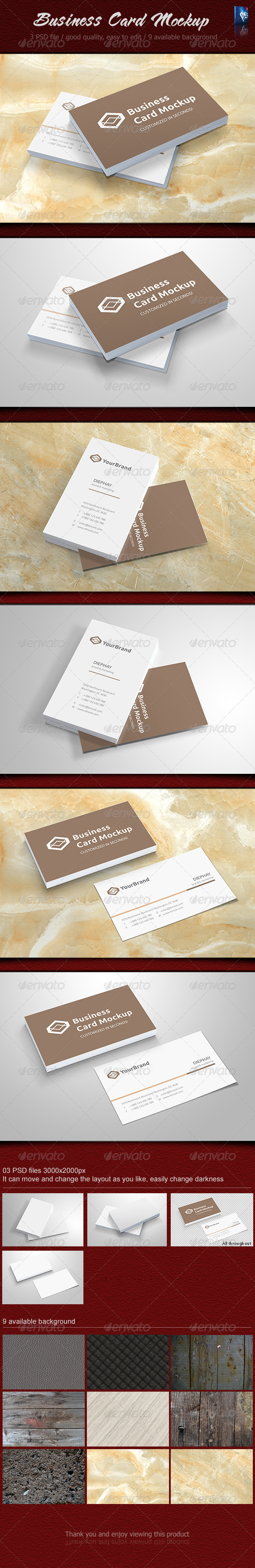 Business card Mockup | Color change, Perspective and Colors