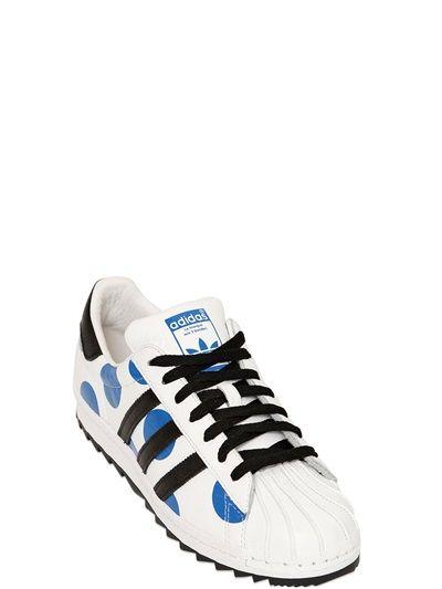 Adidas by Jeremy Scott superstar zapatilla de cuero Polka Dot