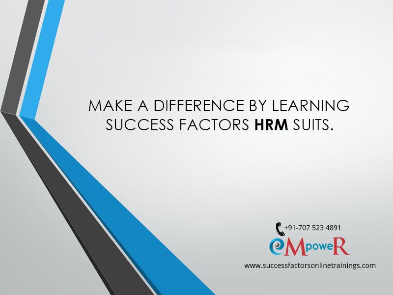 SuccessFactors HRM Suits... Success factors, Online