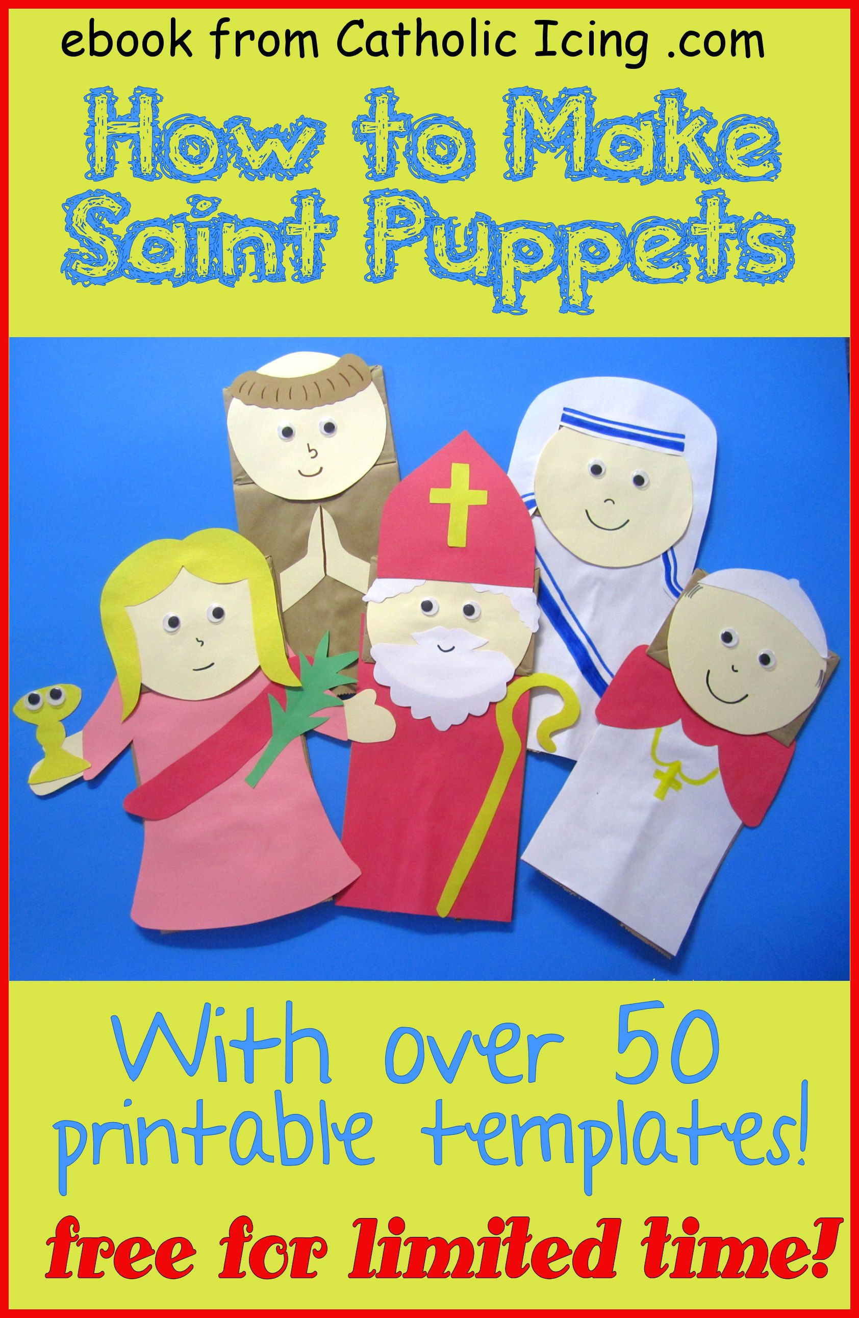 Make these fun saint paper bag puppets with kids for all saints make these fun saint paper bag puppets with kids for all saints day download fandeluxe Document