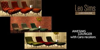 CC FOR SIMS 4: AWESIMS LOUNGER