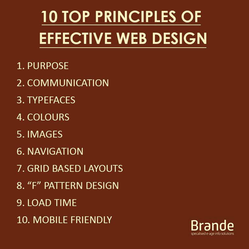 10 Top Principles Of Effective Web Design Top10 Principles Webdesign Webdevelopment Digitalmarketing Graphicdesign Web Design Principles Pattern Design