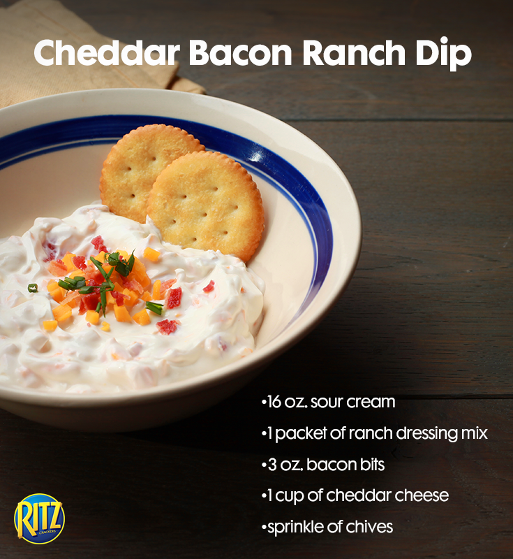 Need A Quick Dip Recipe This Is Sure To Be A Crowd Pleaser With Bacon Cheddar And Sour Cream Yummy Appetizers Recipes Quick Dip Recipes