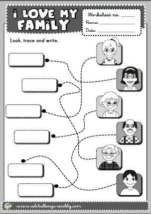 Family Worksheet Com Imagens Familia Em Ingles Atividades