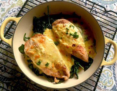 Chicken Comt 233 Florentine Recipe Le Creuset Recipes Braiser Recipes Recipes