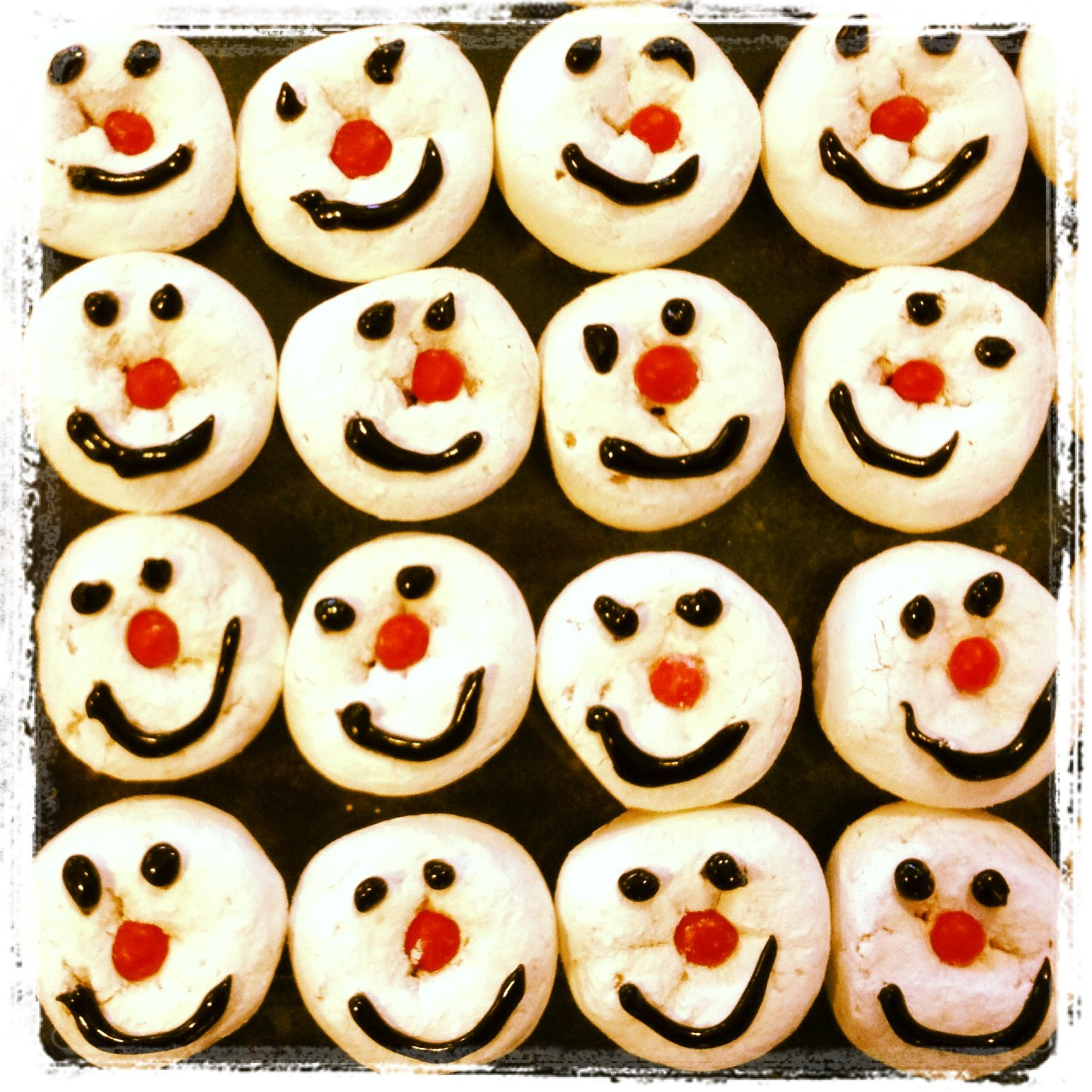 Snowman Snack For Class Party Red Hot Nose Gel Icing