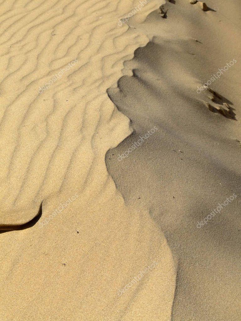 Detail Ridge Peak Desert Sand Dune Stock Image