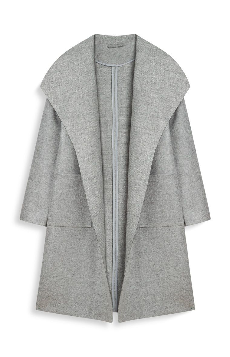 2d9a80303 Primark - Gray Buttonless Coat