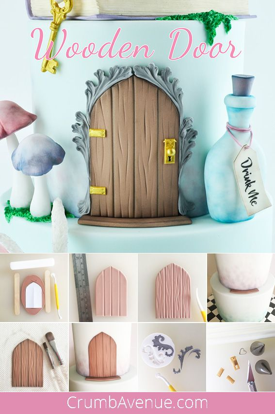 Wooden Door - Cake Decoration #cakedecorating