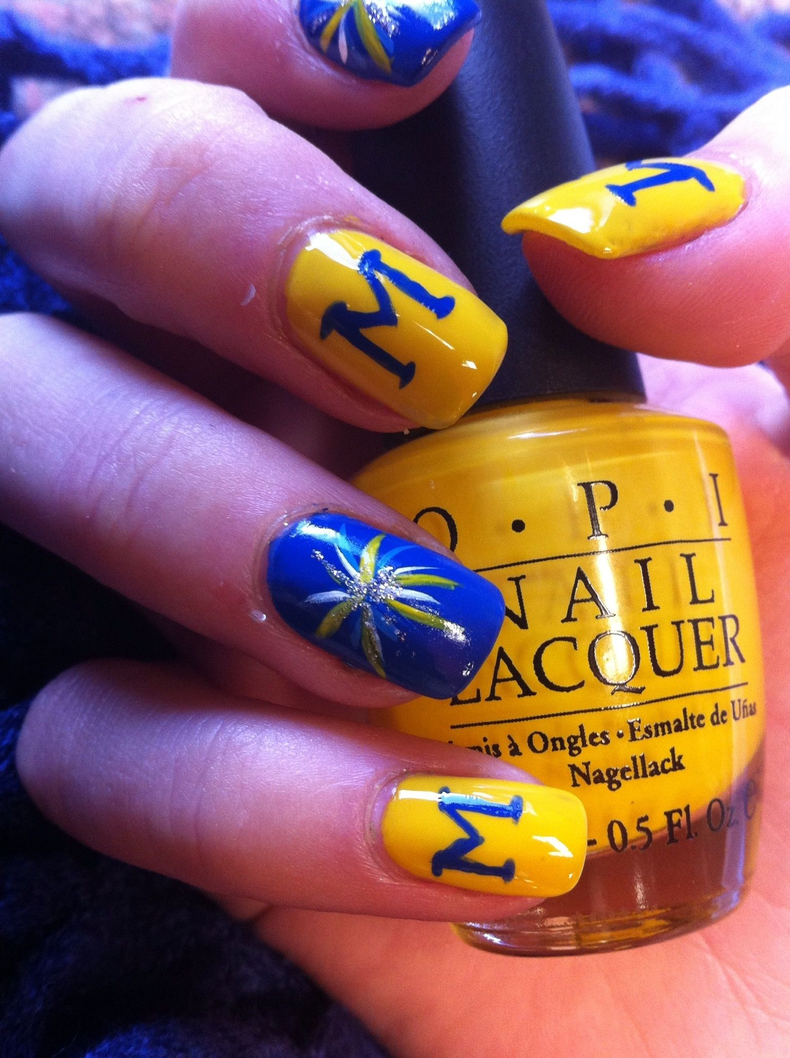U Of M Nail Art Wolverine Fashion Pinterest Makeup Wolverine