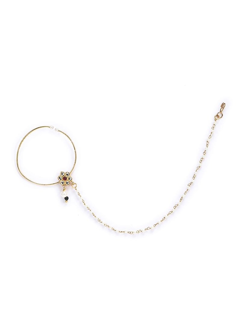 Pearl Chain Gold Nose Ring Nr 2019 Go Std In 2020 Gold Nose