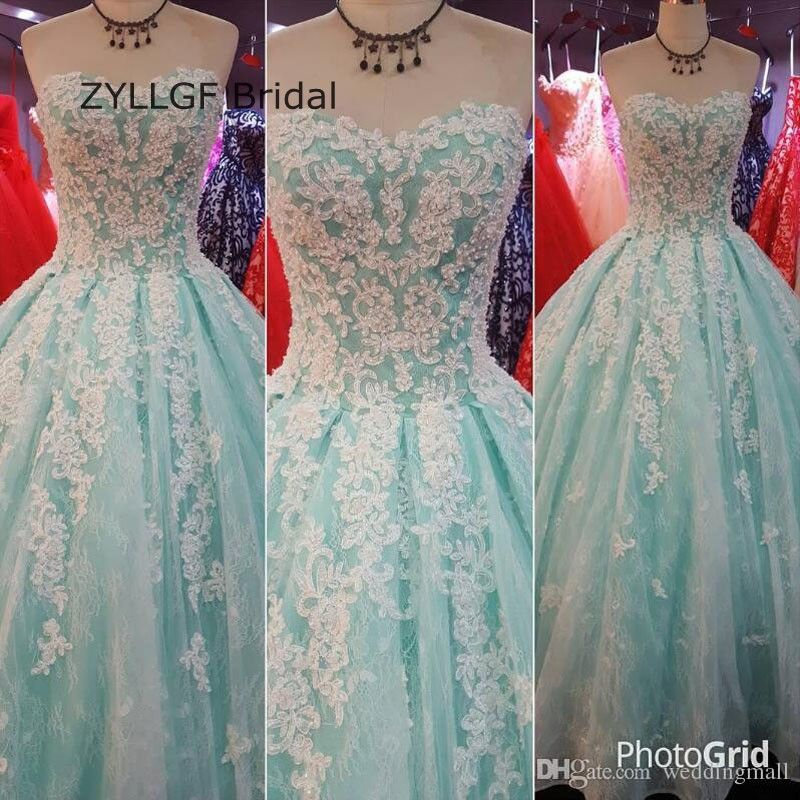 Click to Buy << ZYLLGF Bridal Ball Gown Sweetheart Dress Women ...