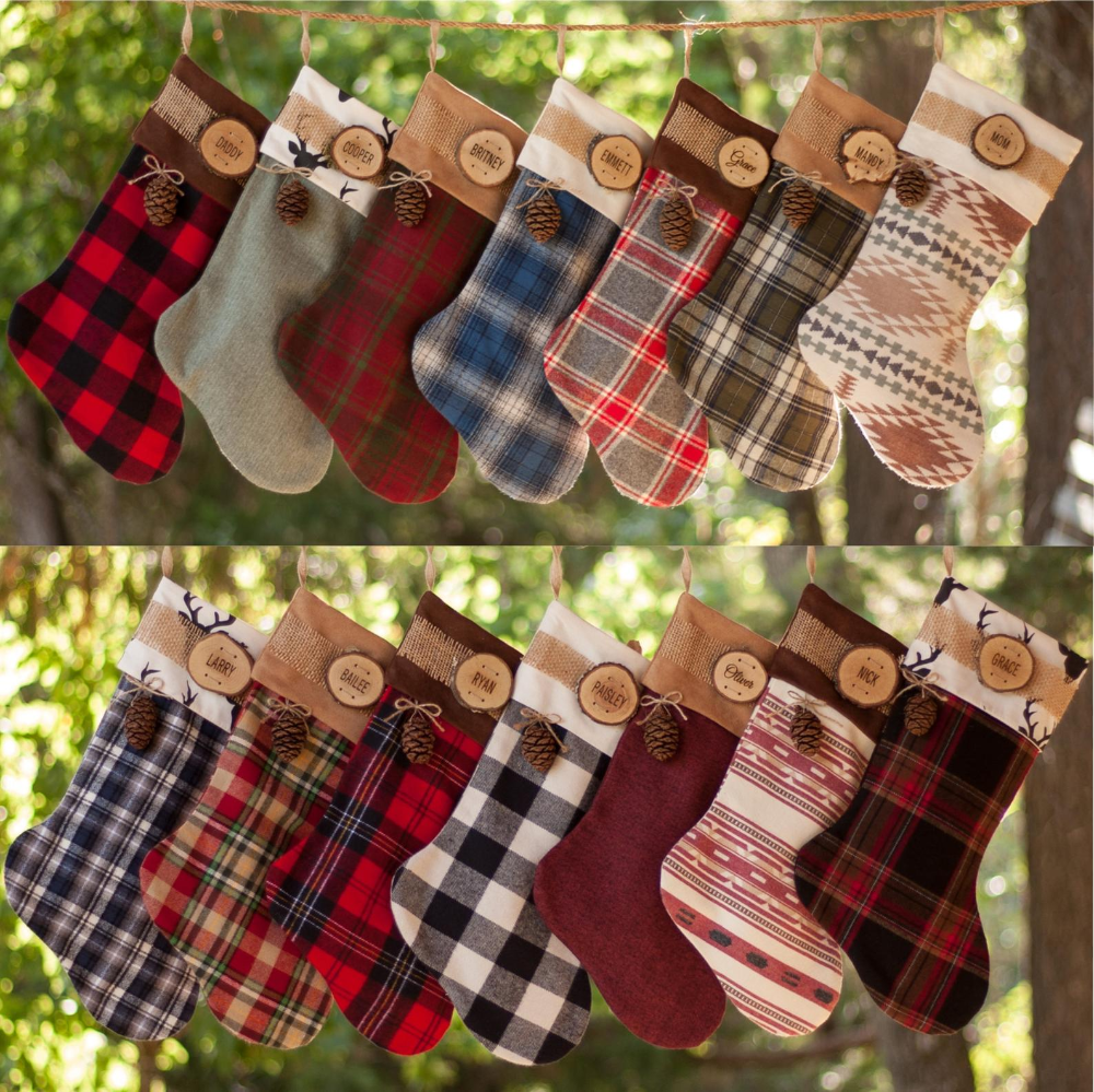 Personalized Christmas Stocking Farmhouse Christmas Family