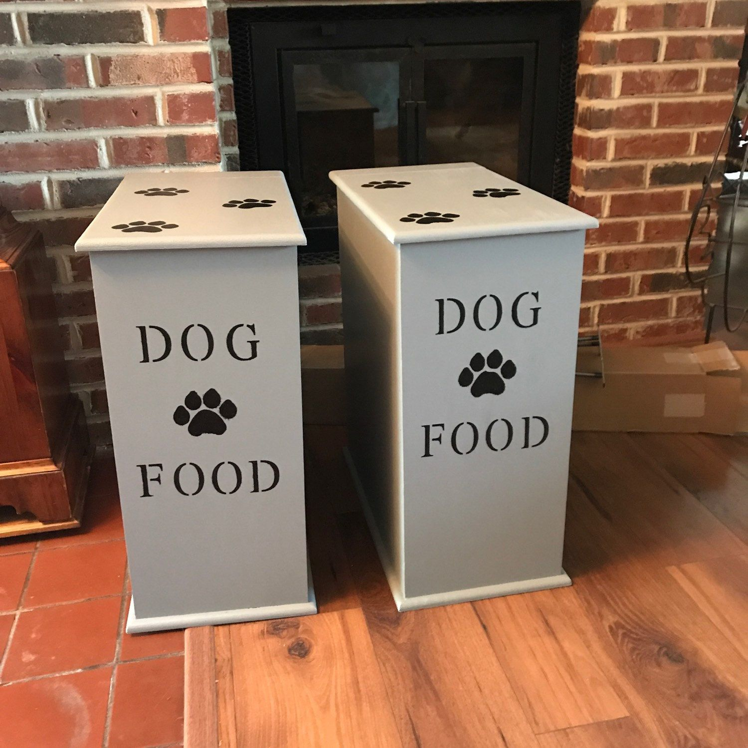 Dog Food Cabinet Personalized Dog Gifts For Owners Dog Adoption