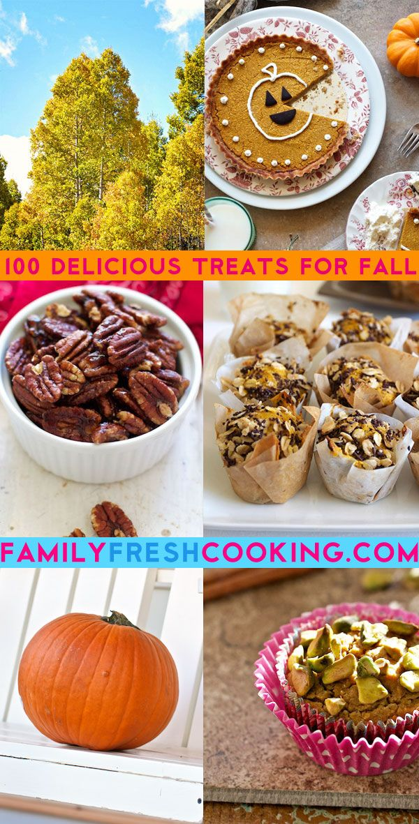 100 Delicious Sweet Fall Treats - Recipe Round Up on FamilyFreshCooking.com