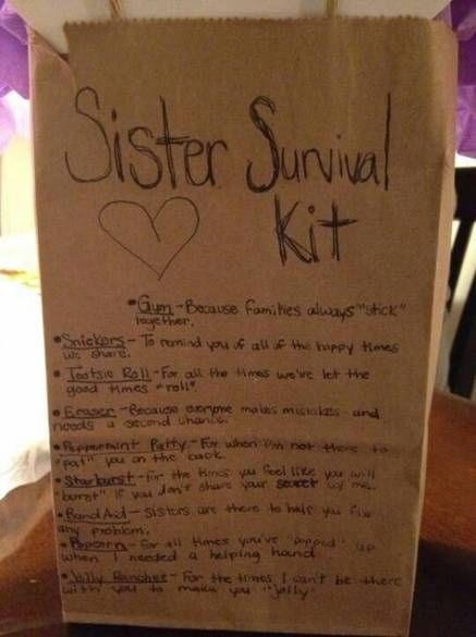18+ Trendy Diy Gifts For Christmas For Sisters Survival Kits #giftsforsister