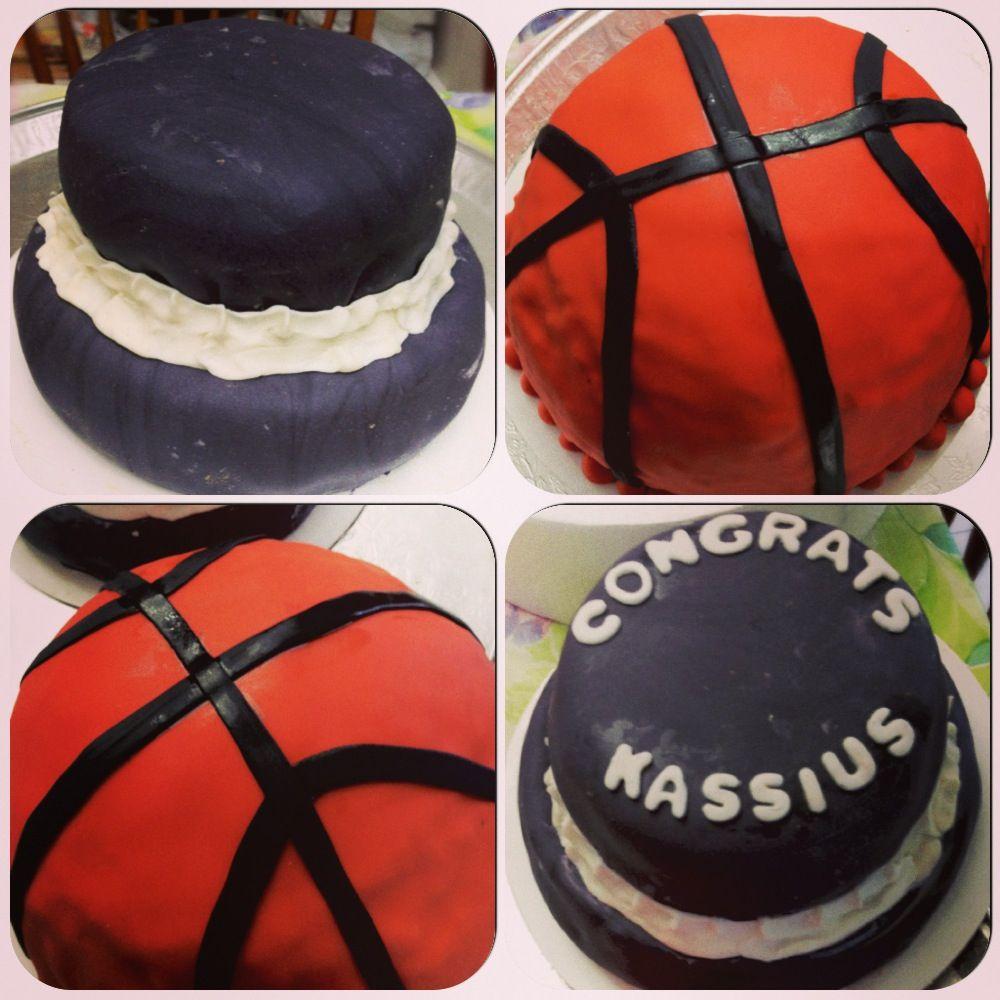 Basketball cake and basic two tier cake basketball cake