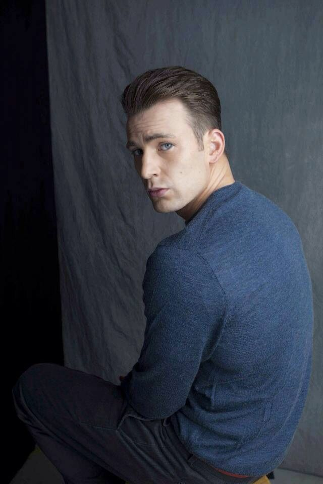 Chris Evans. He looks so sad, I just want to hug him & say everything is ok - bless him