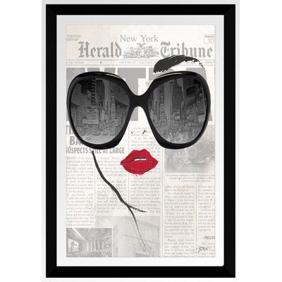 PicturePerfectInternational 'Nyc Thru Glasses' by BY Jodi Framed Graphic Art