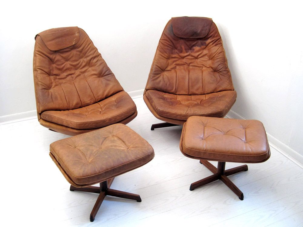 MIX Vintage Pair Mid-Century Danish Recliners with Ottomans  sc 1 st  Pinterest & MIX Vintage Pair Mid-Century Danish Recliners with Ottomans ... islam-shia.org