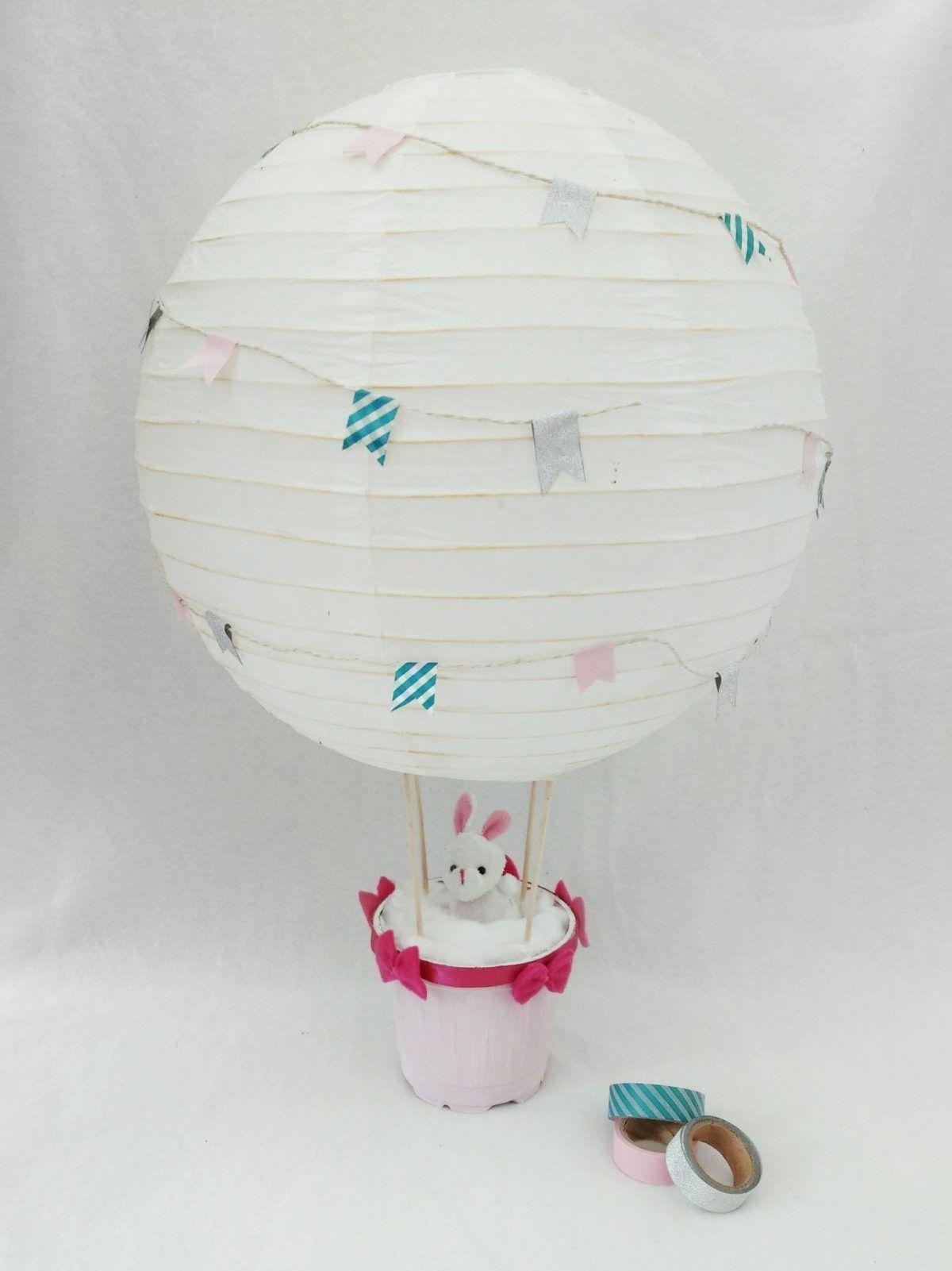 Heißluftballon Dekoration für das Kinderzimmer - Basteln für Kinder ...