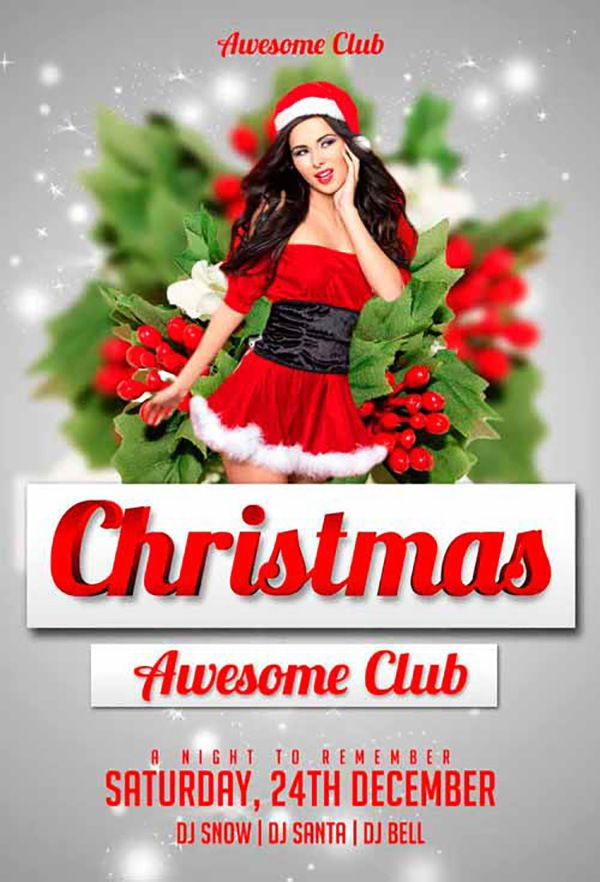 Christmas Free Psd Flyer Template Free Psd Files Pinterest