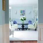 Nice Blue Painting Living Room Wall Decoration