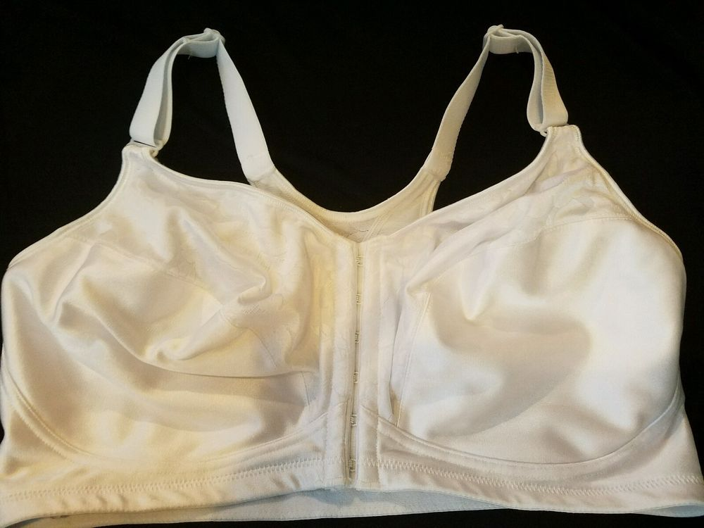 4f5f7da7fa Playtex 18 Hour 40DD White 4643 Wirefree Front Closure Bra NEW Without Tags   Playtex  FrontClose