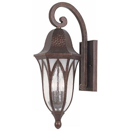 Berkshire Collection 23 High Outdoor Wall Light With Images Copper Outdoor Lighting Wall Mount Lantern Designers Fountain