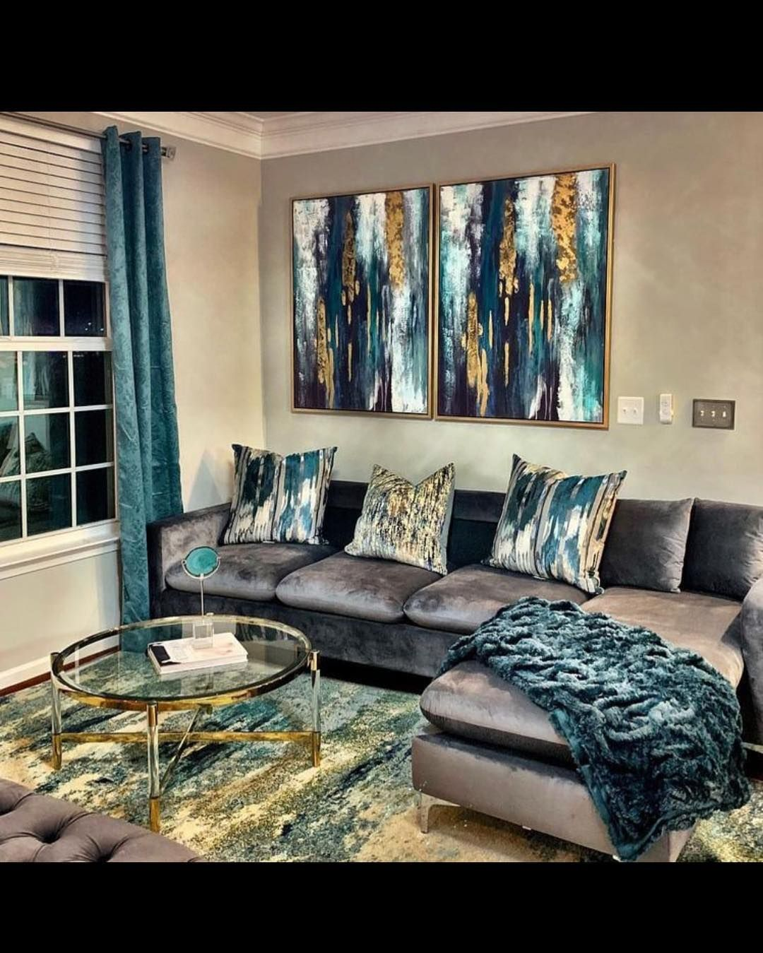Decor Inspiration By Ty On Instagram Loving The Teal Gray And