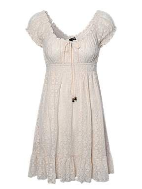 Beige Lace Country Dress This Would Be Cute With Some Boots
