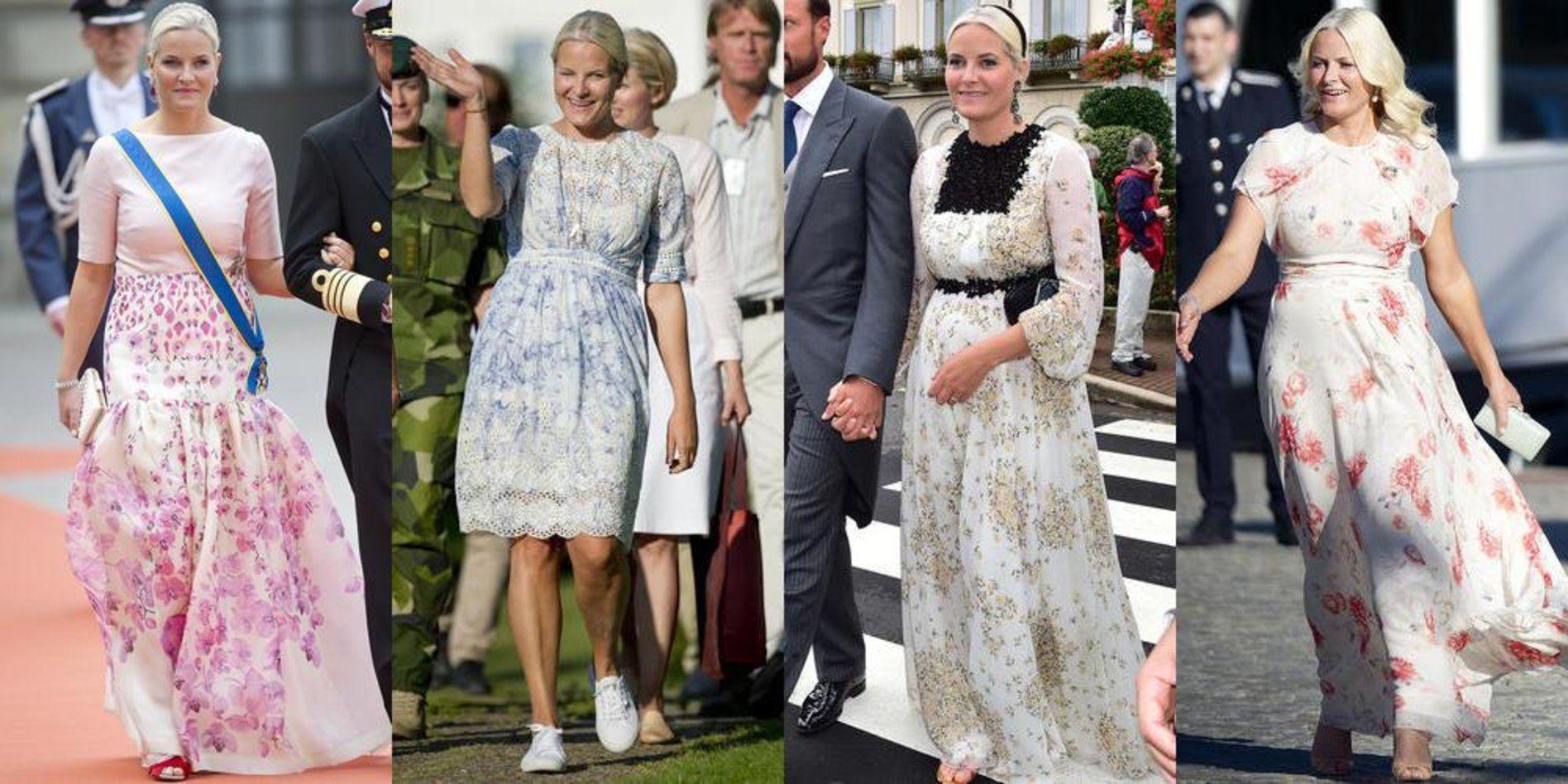0970dfe1 For kronprinsesse Mette-Marit (42) har det vært litt av et kjoleår ...