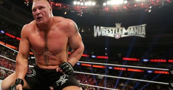 WWE World Heavyweight Champion Brock Lesnar Def John Cena And Seth Rollins At Royal Rumble 2015