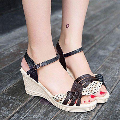 442807a5b03f6 AIMTOPPY HOT Sale Summer Sandals Ladies Women Wedges Shoes Summer Sandals  Platform Toe High-Heeled
