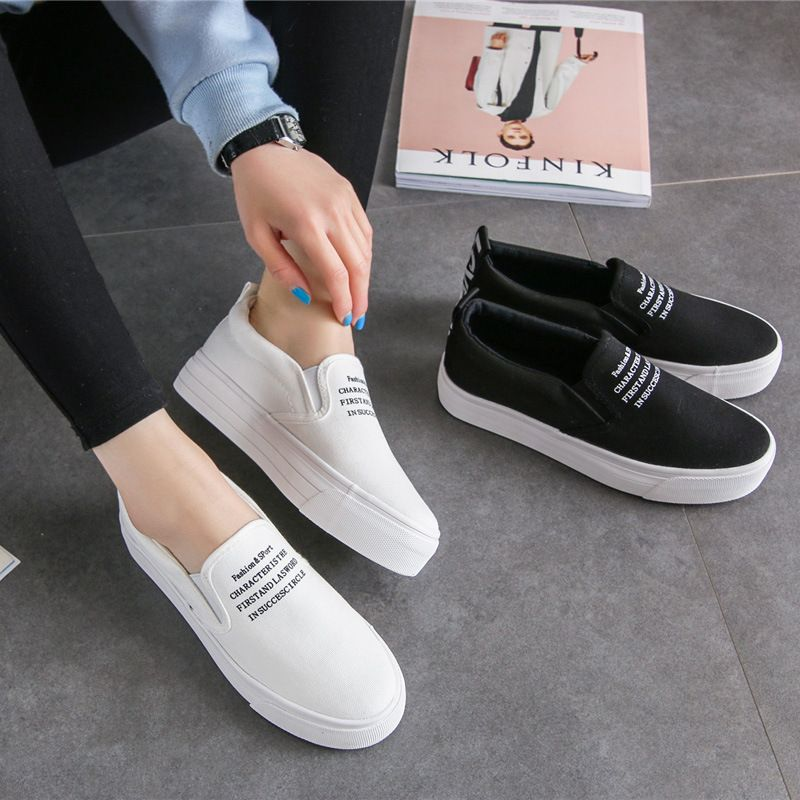 Spring Women Loafers Soft Slip On Flats For 2017 Summer Style Canvas Shoes Woman Plus Size 35-40