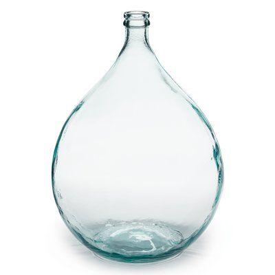 Parisian Bottle Glass Table Vase Glass Vase Recycled Glass Vase