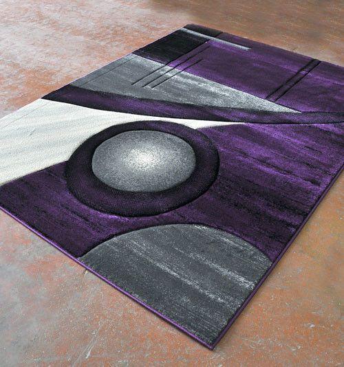 Power Loom Purple Black Rug Area Rugs Black Area Rugs Purple Area Rugs